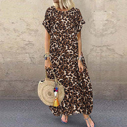 Sexy Leopard Print Women Loose Dress