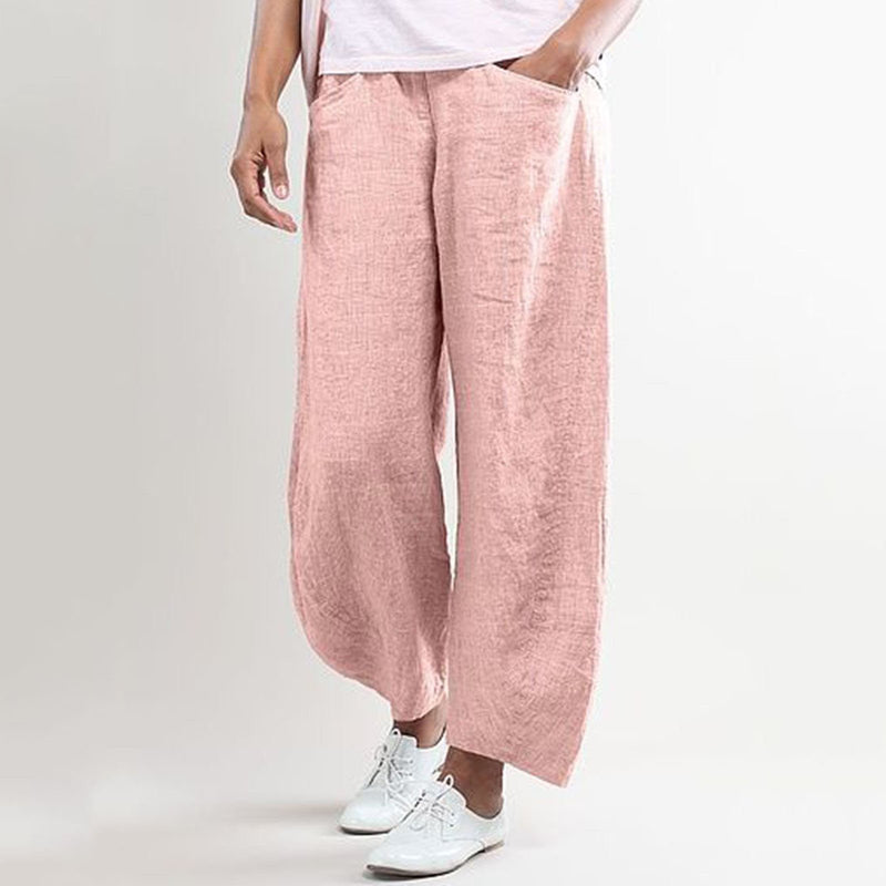 Casual Solid Linen Pants
