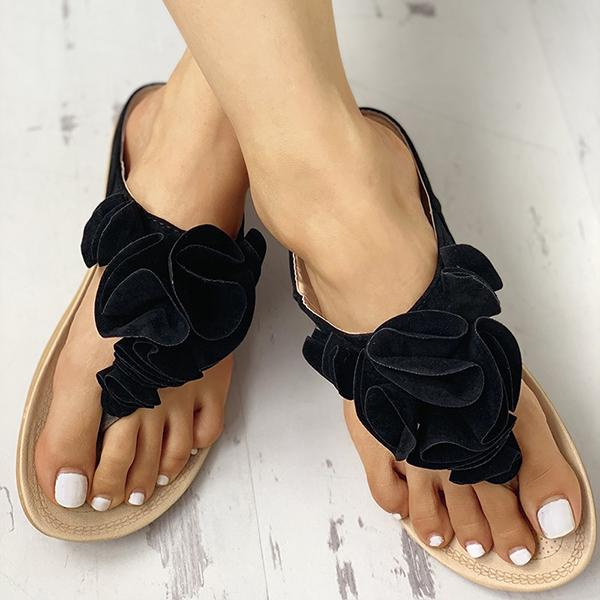 Simple Flower Comfortable Slippers