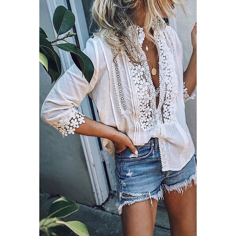 Fashion Single Breasted Blouses