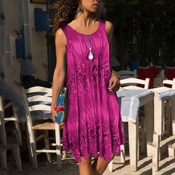 Plus Size Printed Sleeveless Dress