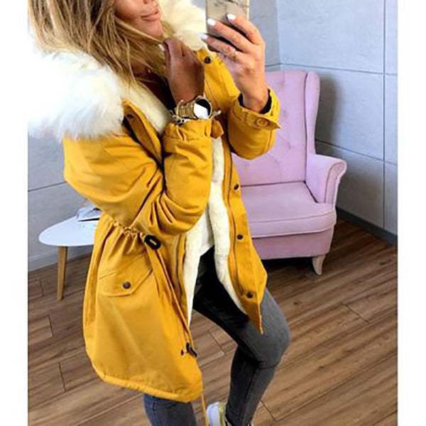 Plus Size Casual  Military Hooded Coat