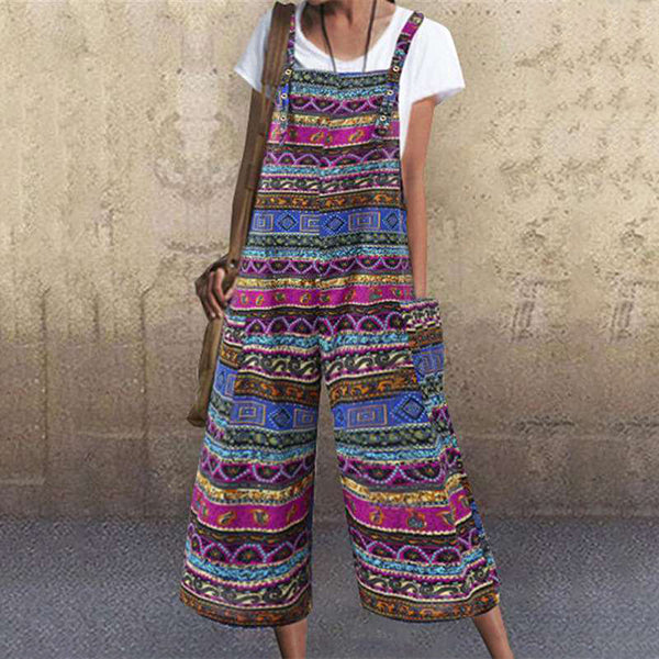 Women Printed Casual Summer Jumpsuits