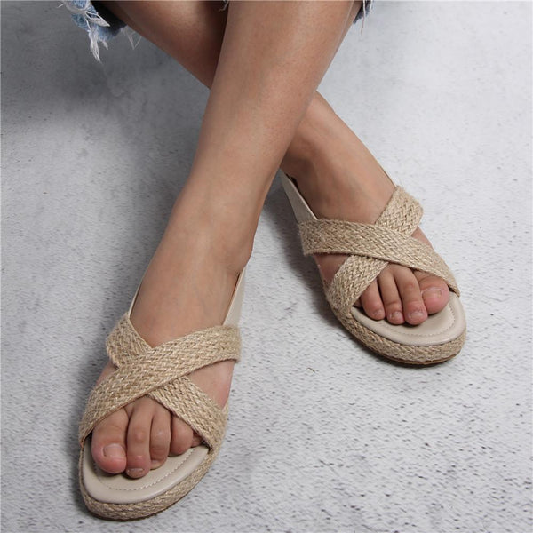 Espadrille Open Toe Flat Sandals