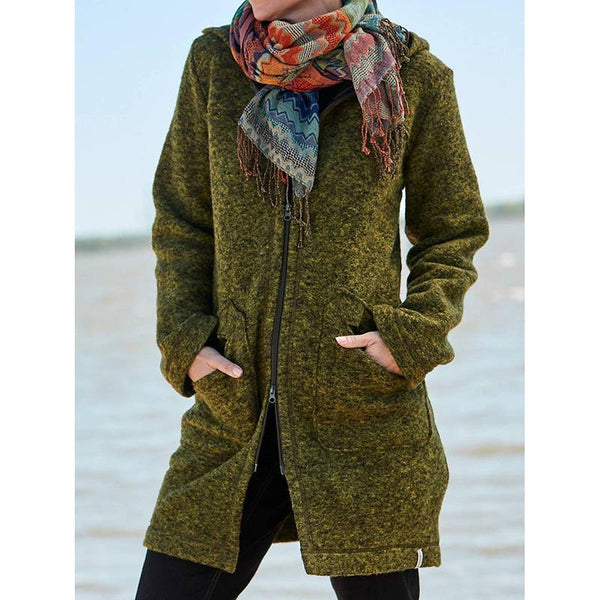 Women's Solid Color Casual Outerwear