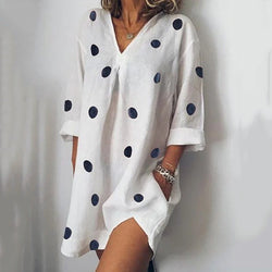 Loose Casual Dot Printed Dress