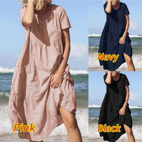 Casual Fashion Round Neck Women Dress