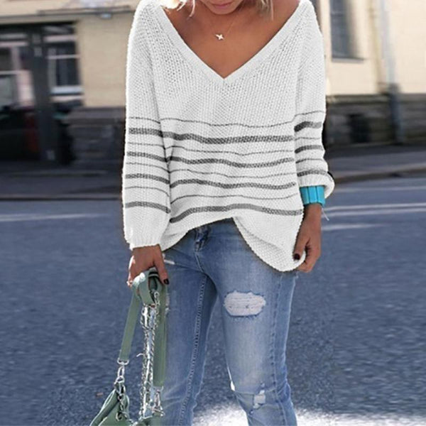 Casual Autumn Winter Loosely Knitted Sweaters Blouses