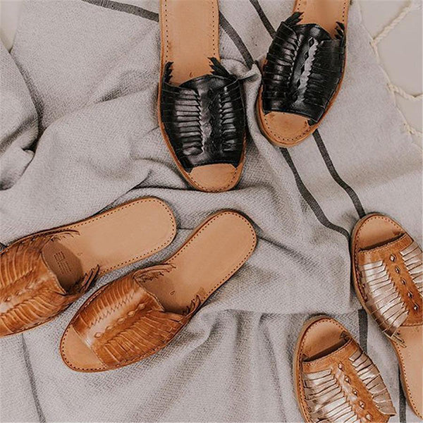 Vintage Woven Flat Casual Slippers