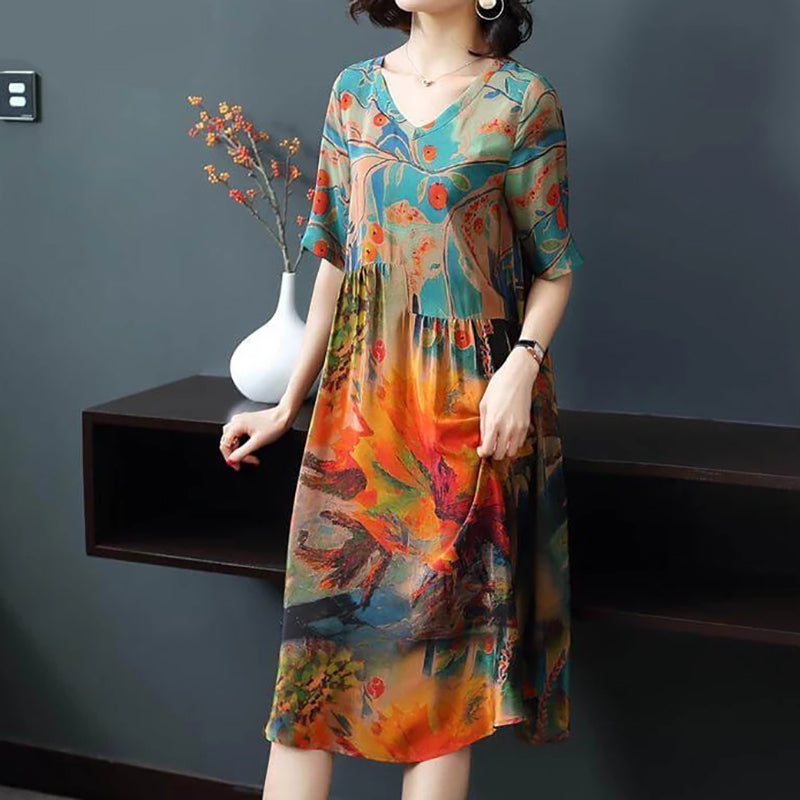 Luxury 1/2 Sleeve Soft Casual Dresses