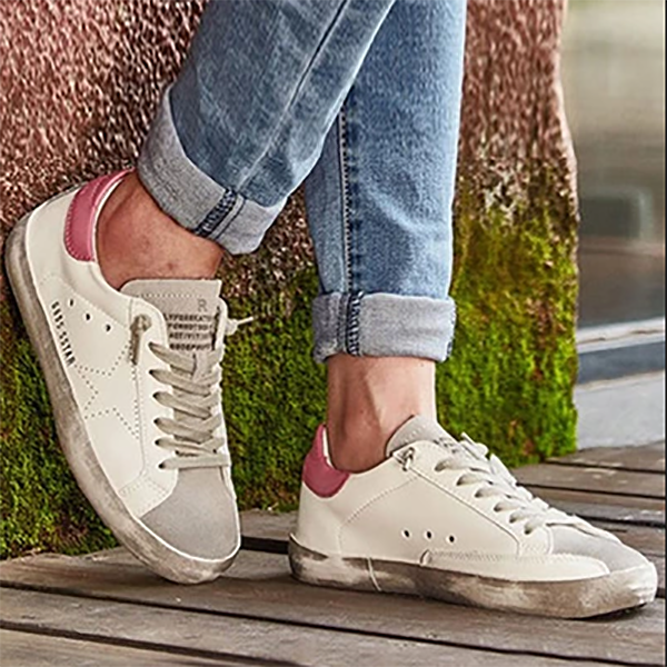 Letter Lace Up Casual Sneaker
