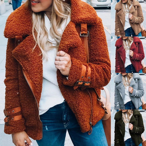 Fashion Winter Warm Solid Short Jacket
