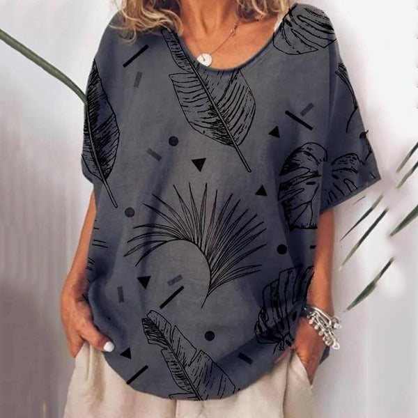 Daily Casual Printed Loose Blouse
