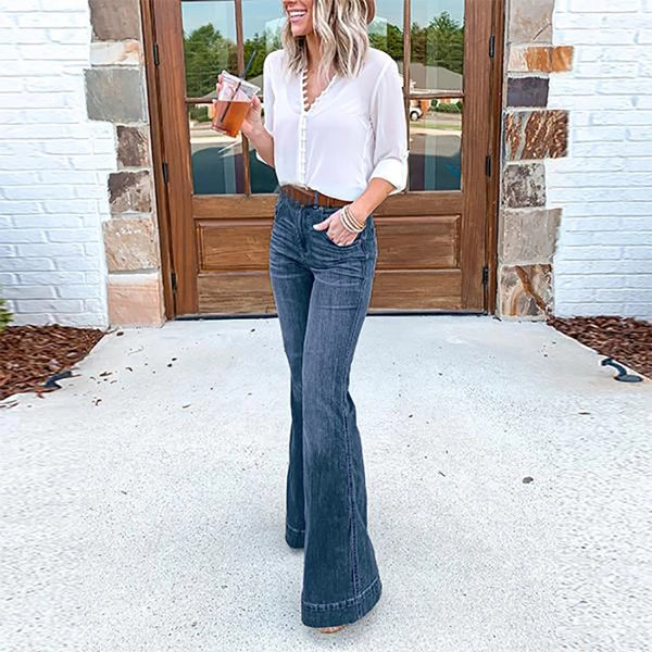 Women's Casual High Waist Flares