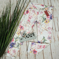 Flower Printed Casual Daily Pants
