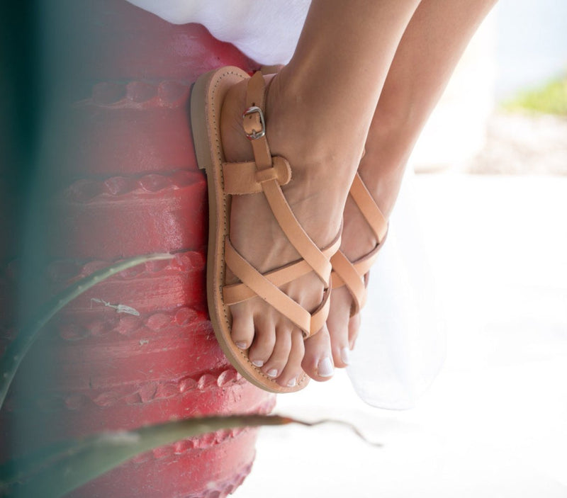 Summer Ankle Strap Buckle Flat Sandals