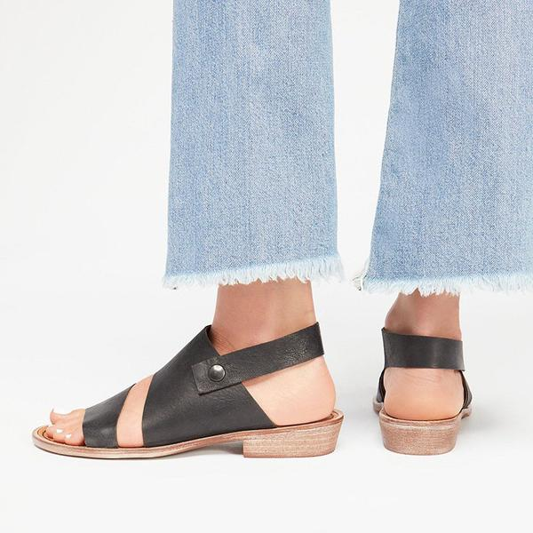 Vintage Simple Open Toe Sandals