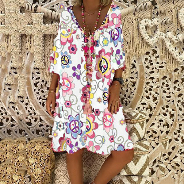 Printed Loose Casual Dress