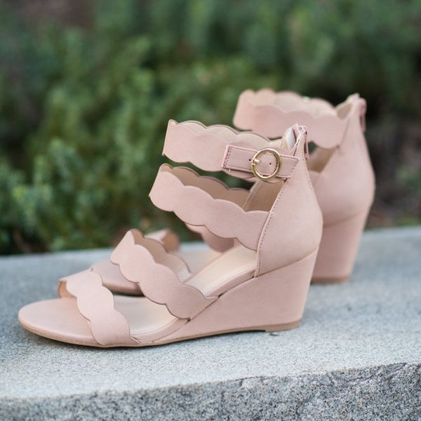 Casual Open Toe Wedge Sandals