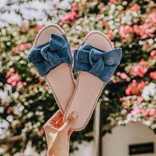 Fashion Bowknot Flat Slipper