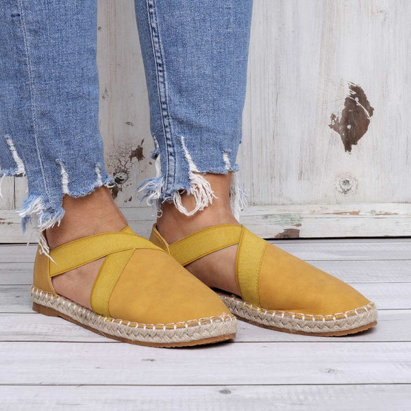Casual Elastic Band Flat Sandals