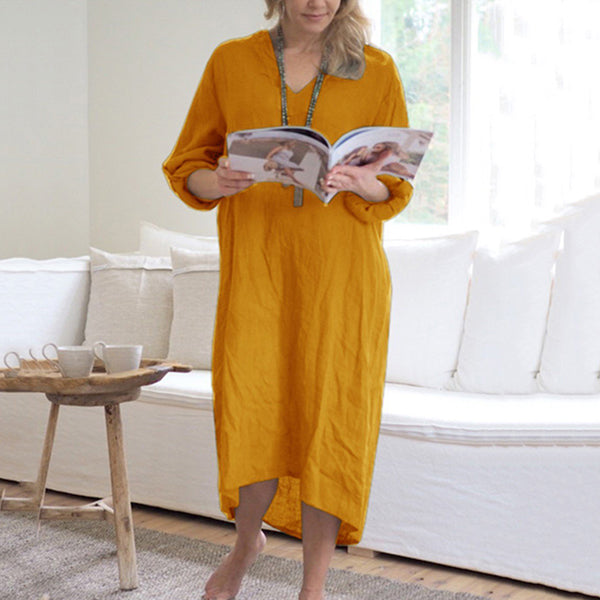 Loose Casual Solid Color Dress