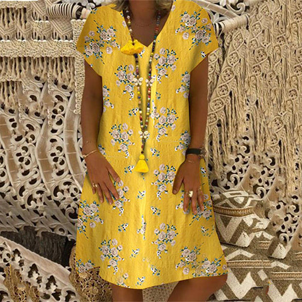 Elegant Printed Loose Causal Dress