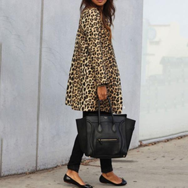 Sexy Plus Size Leopard Warm Coats