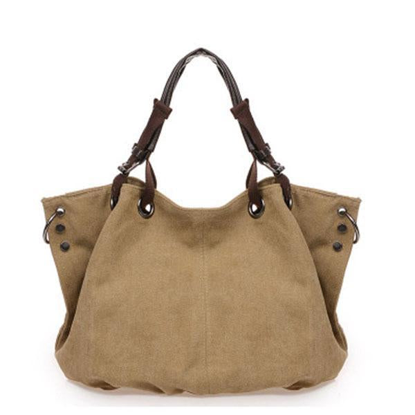 Casual Canvas High Capacity Shoulder Bags