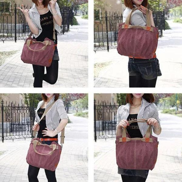 Casual Outdoor Canvas Zipper Shoulder Bags