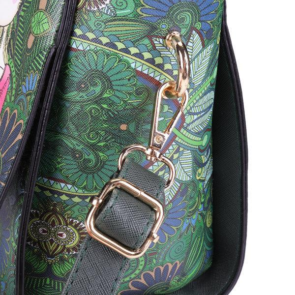 Women PU Leather Green Series Crossbody Bags