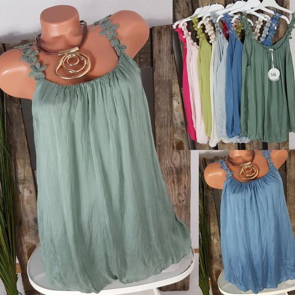 Casual Plus Size Solid Color Vests