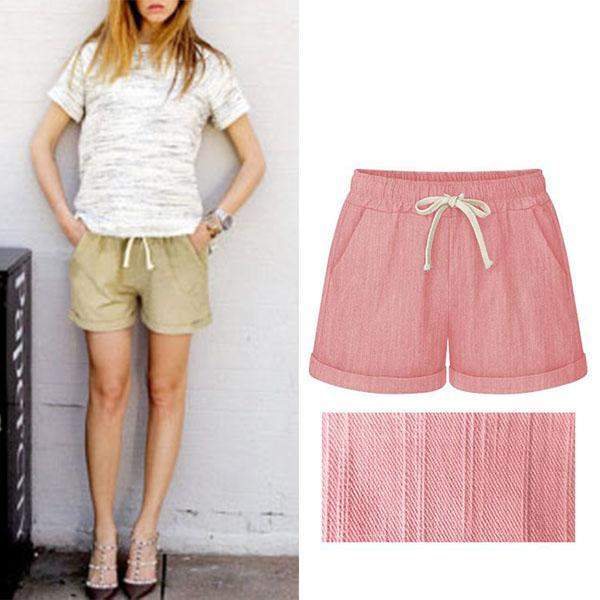 Casual Solid Color Harlan Loose Shorts
