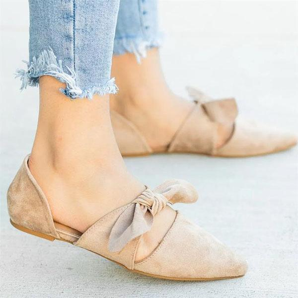 Chic Style Casual Bow Flat Shoes