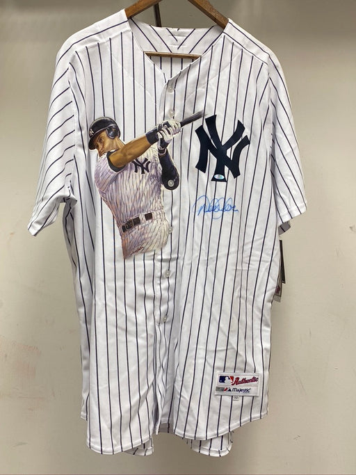 Derek Jeter Autographed Authentic Yankee Jersey with Hand-Painted Jeter Figure