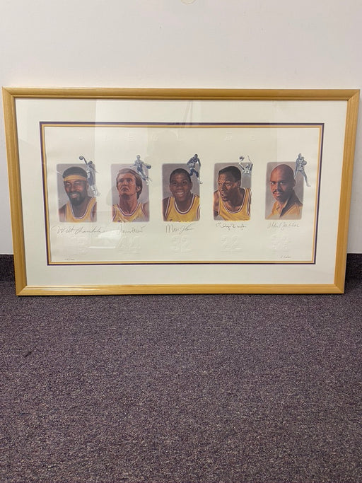 Lakers LEGENDS piece - Signed and Framed