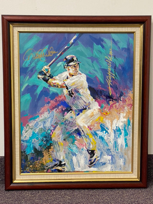 Derek Jeter Original Signed And Framed Painting