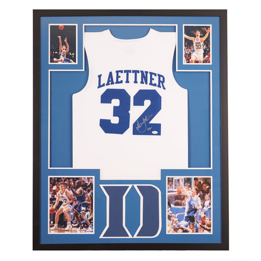 Christian Laettner autographed Duke jersey