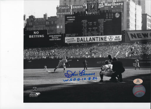 Don Larsen with WSPG 10-8-56 inscription