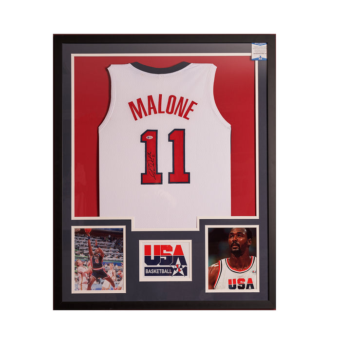 Karl Malone Team USA autographed jersey