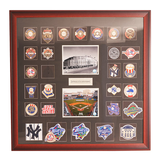 Collage of Yankees World Series patches