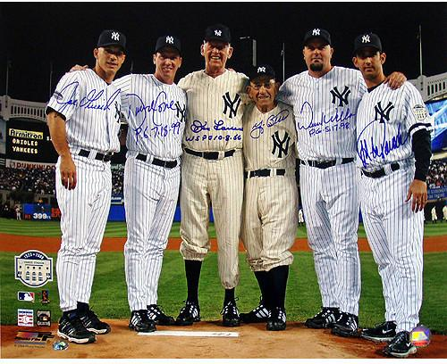 "Yankee PERFECTION 16x20"" photo with Autographs from Pitchers and Catchers"