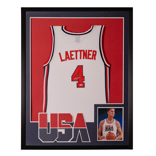 Christian Laettner autographed Dream Team jersey