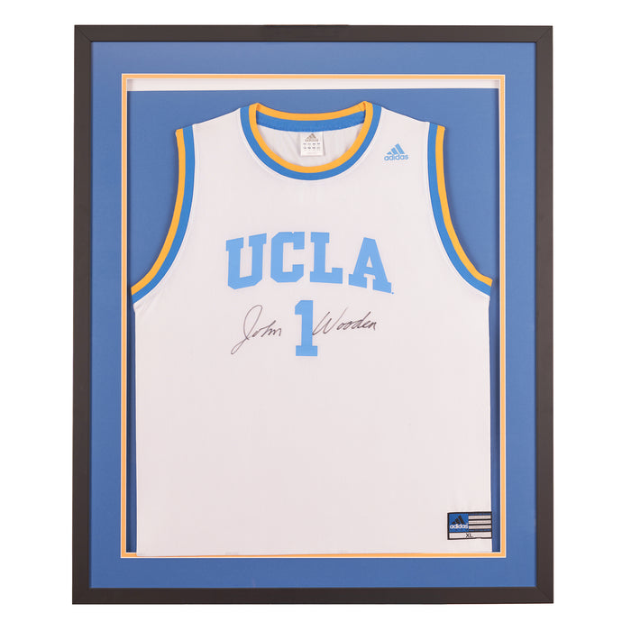 John Wooden autographed UCLA jersey