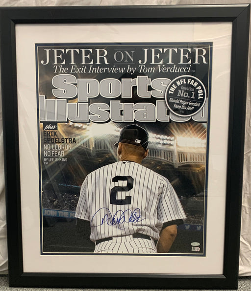 Derek Jeter autographed Sports Illustrated cover