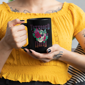 Tattooed Mama - Black Mug