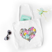 Blessed Mama (Heart) - Tote Bag