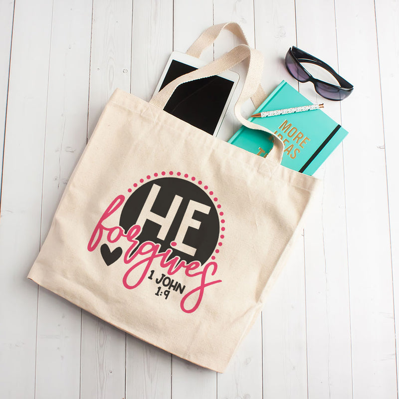 He Forgives - Tote Bag