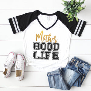 Motherhood Life - V-neck T-shirt
