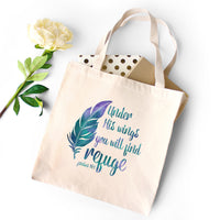 Under His Wings You Will Find Refuge - Tote Bag